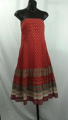 016644b8ee Banana Republic Size 6 Strapless Multi-Color Floral Lined Silk / Cotton  Dress