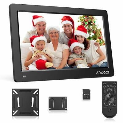 Andoer 15.6 Inch Digital Photo Frame 1920x1080p HD IPS Clock/MP3 With 8GB Card