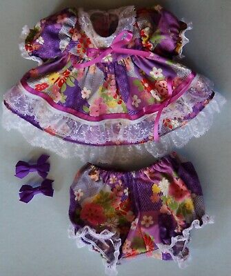 My Child Doll Flare Dress Panties Hair Clips -Floral -  (No Doll)