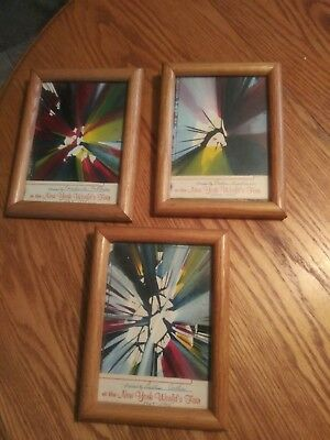 1964-1965 New York World's Fair (3) signed, Painted framed pictures
