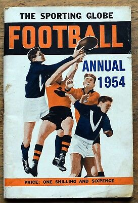 OLD  FOOTBALL BOOKLET The Sporting Globe Football Annual 1954