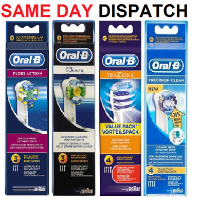 Braun Oral-B Precision Dual Clean Trizone Floss Action Toothbrush Brush Heads