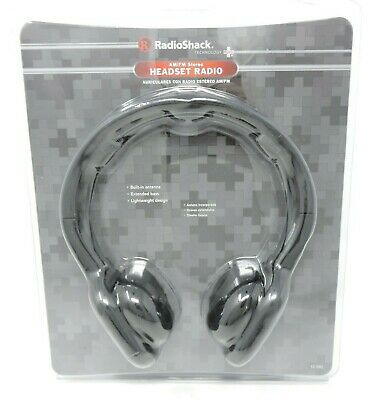 Radio Shack 12-590 AM/FM Stereo Headphones Receiver Portable Headset