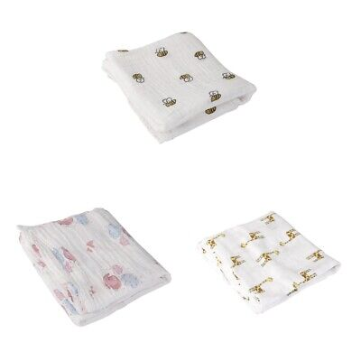 MagiDeal 3Pcs Soft Flanell Baby Swaddle Decke / Musselin Square 110x110cm