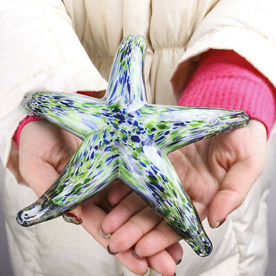 Crystal Starfish Figurine Glass Blown Handmade Art Decor Starfish Ornament Gift