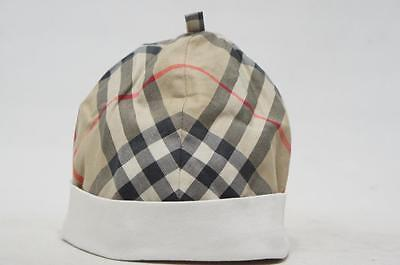 716a4818844 BURBERRY WHITE BUCKET Hat With Nova Check Trim Size 54 Infant Baby ...
