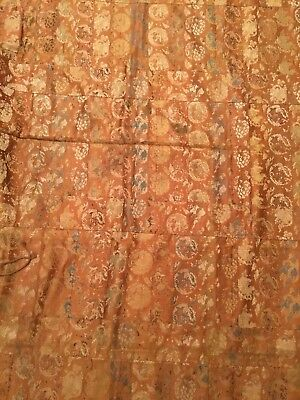 ANTIQUE 19th c JAPANESE MEIJI BROCADE SILK KESA EMBROIDERED CHINESE ROBE