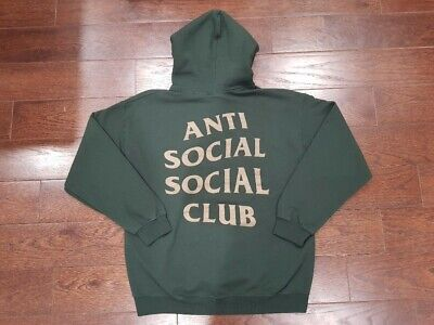 2213b70a61ff ANTISOCIAL SOCIAL CLUB Redeemed Hoody Size S M ASSC Green Gold HOT ...