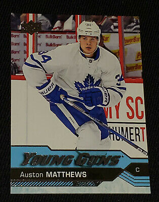 201617 Upper Deck Young Guns Auston Matthews Rookie Card 201 Near Mint