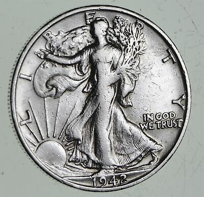 Strong Feather Details - 1942-S Walking Liberty Half Dollars - Huge Value *516