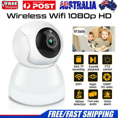 Wireless Wifi IP Security Camera 1080P Indoor Home Surveillance Baby/Pet Monitor