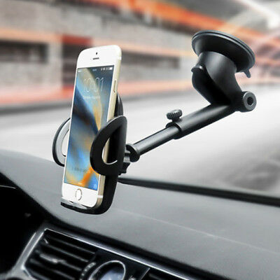 Universal Car Windshield Mount Holder Bracket For Mobile Phone GPS Telescopic B