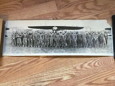 1927 Selfridge Field US Army Air Service Aviation PANORAMA Photo PURSUIT PILOTS!