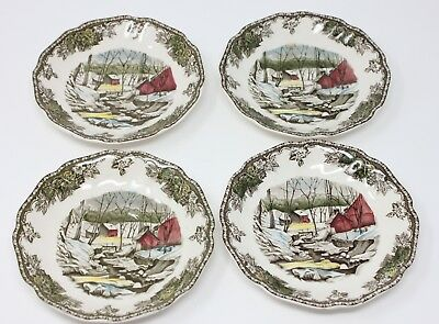 Lot of 4 saucers for flat cup, Friendly Village, Johnson Bros 5 5/8""