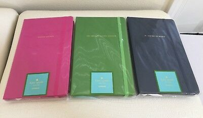 KATE SPADE Large Notebook Diary Ribbon Book Mark Elastic Closure U Pick Color