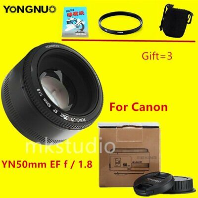 YONGNUO YN 50MM EF F/1.8 Auto & Manual Focus Lens for Canon EOS Camera + Gift