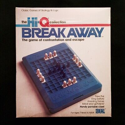 BREAK AWAY, Hi-Q Travel Strategy Game, Complete in Original Box, Excellent, 1982