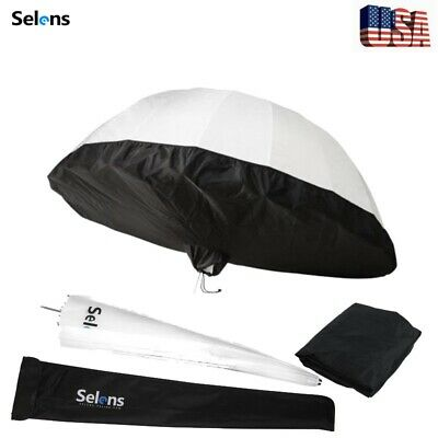 31'' White Diffusion Parabolic Reflective Umbrella & Black Cover Fr Studio Light