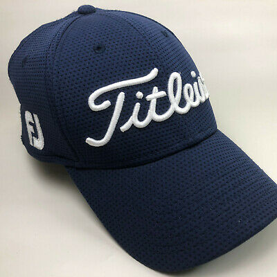 Titleist FJ Pro V1 logo NEW ERA - Navy Blue - Mesh Cap Hat S/M Foot Joy