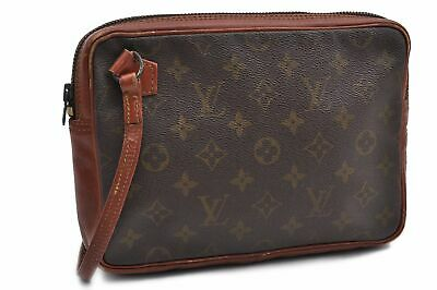 25afa64a1c57 Auth Louis Vuitton Monogram Pochette Sport Clutch Hand Bag Old Model LV  72703