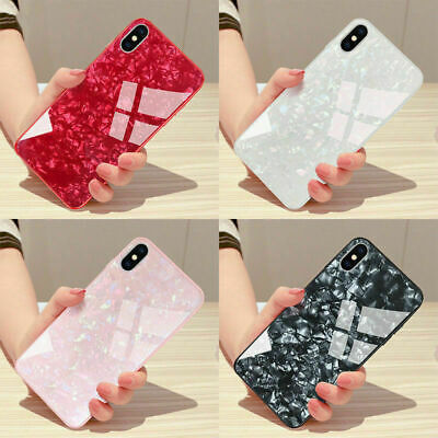 Luxury Marble Tempered Glass Case Cover For  iPhone X XS XR Max Plus 6s 10 8 7 6