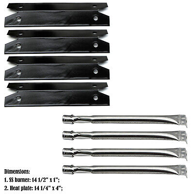 Replacement Brinkmann 4 Burner 810-9410-S Gas Grill Burners, Heat Plates - 4Pack