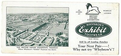 OLD BLOTTER Whybrows Footwear 1920's factory was at Abbotsford Melbourne