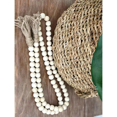 1PC Country Style Rustic Wood Bead Garland with Tassels Wedding Party B