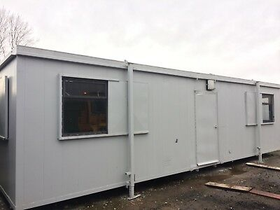 32x10ft Anti Vandal Site Office / Site Cabin / Portable Building / Jack Leg