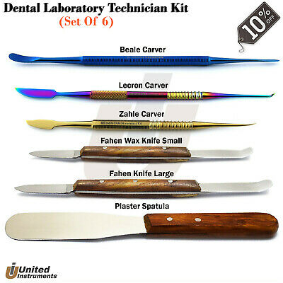 Dental Zahle Beale Carvers Wax & Modelling Plaster Knife Waxing Carving Lab Tool