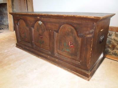 Chest coffer blanket box coffee table Victorian c1880