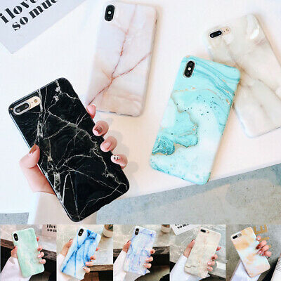Pastel Marble Pattern Rubber Soft Case Cover For iPhone XS Max XR X 6s 7 8 Plus