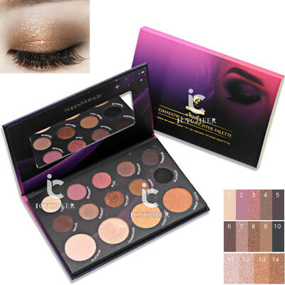 14 Colors Shimmer Matte Eye Shadow Palette Mineral Long-lasting Nude Eyeshadow
