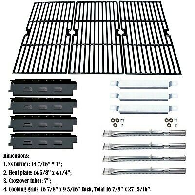 REPLACEMENT CAST-IRON GRILL Pipe Burner for Char-Broil Gas