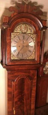 """Antique Mahogany """" Derby """"  Automation Dial  Longcase / Grandfather Clock"""