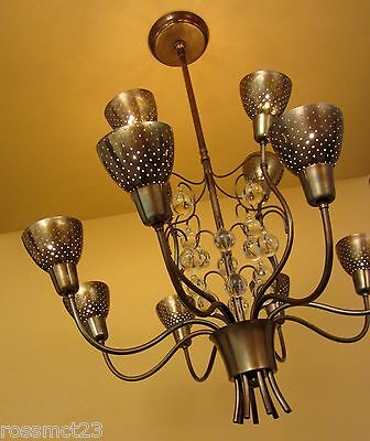 Vintage Lighting 1950s Mid Century high quality chandelier