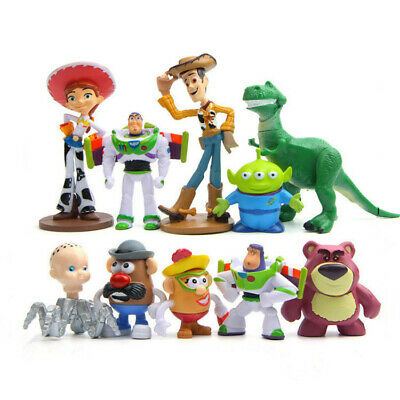 Kids Gifts Disney Toy Story 3 Heroes 10pc/Set Figurine Figures Cake Toppers Play