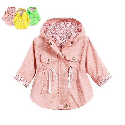 New Jacket Autumn Kid Outerwear Baby Cotton Floral Girls Hoodie Toddler Coat
