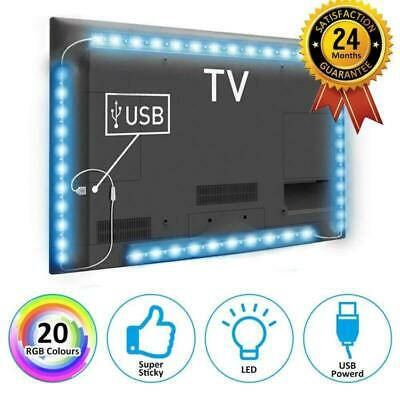 2M per 5050 SMD LED striscia RGB USB luce TV retro illuminazione Kit