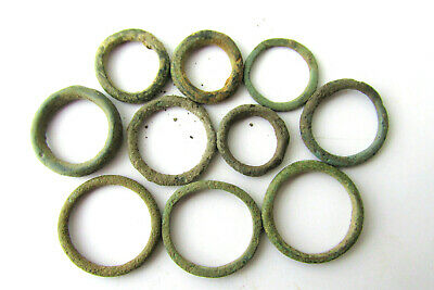 Rare Lot CELTIC Ancient Coin Bronze Ring / Proto Money