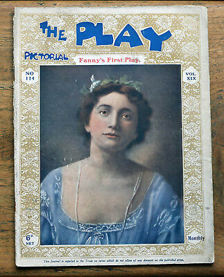 OLD PLAY Pictorial magazine nd.c.1900's Vol.XIX No.114 Fanny's First Play cover