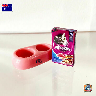 Mini Collectables - Cat Food & Feeder | Great addition to Coles Little Shop 2!