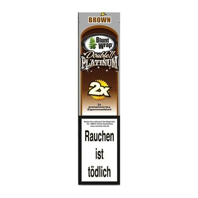 Blunt Wrap Double Platinum Aromatisiertes Papers Papier Rolling Brown Chocolate
