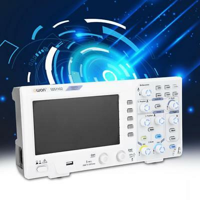 """OWON SDS1102 100MHz Digital Storage Protable Oscilloscope 2-Channel 1GS/s 7"""" LCD"""