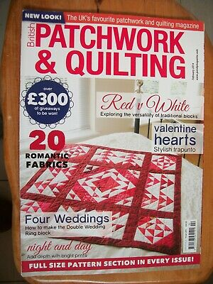 British Patchwork & Quilting Sewing Magazine,february 2014, Issue 241
