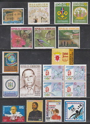 Dominican Republic MNH Complete Year Unit for 2008 Scott 1439, 1441-44, 1450-61