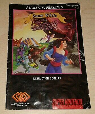 Snow White in Happily Ever After SNES Super Nintendo Instruction Manual guide