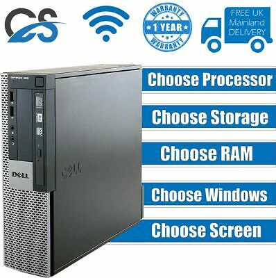 FULL DELL Quad Core i5 i3 i7 DESKTOP TOWER PC & LCD WIN10 &16GB 1TB OR 240GB SSD