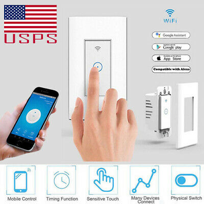 Smart Led Light Dimmer Wifi Wall Touch Switch For Alexa Google Home Timing