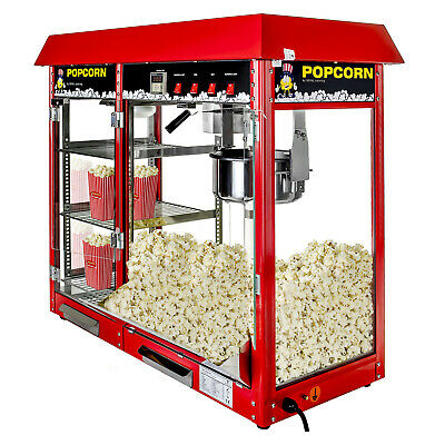 With Aluminium Alloy And Toughened Glass Red American Style Popcorn Machine